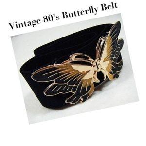 Vtg. 80's Butterfly Belt